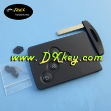 4 buttons smart car key shell blank card for Renault Koleos key card with logo without letter Koleos