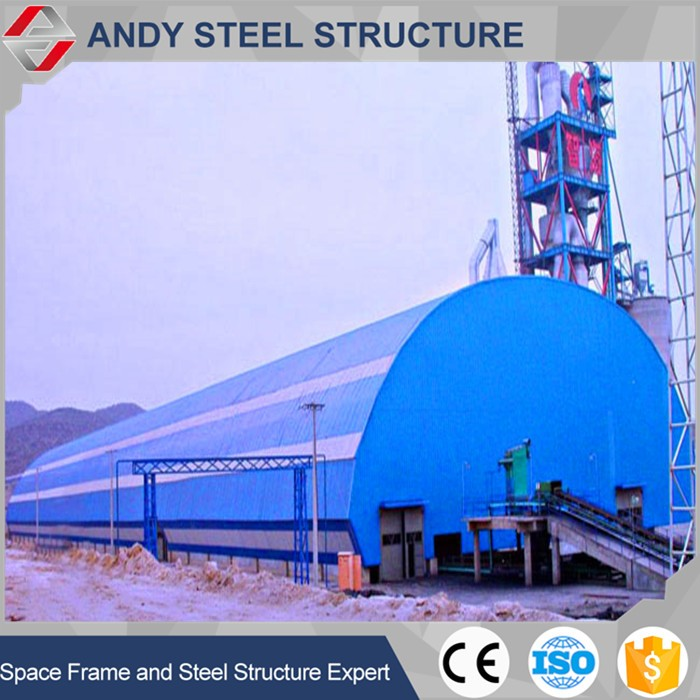 Prefabricated low cost industrial shed coal shed thermal power plant
