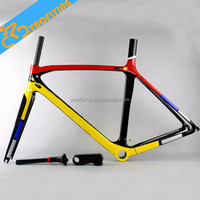Best selling 695 carbon fiber road bicycle frame,high quality lightweight OEM carbon road bike frames on sale
