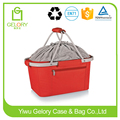 High quality Waterproof Polyester fabric Picnic Time Red Metro Basket