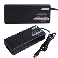Lithium iron battery 42V smart charger 4 stage auto charger microprocessor controlled