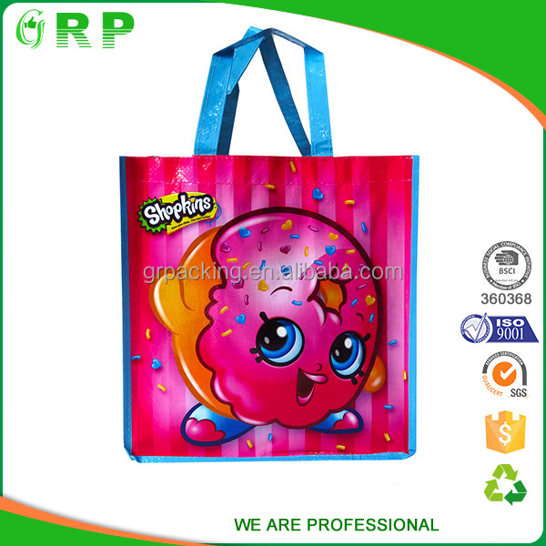 Wholesale colored recycled packing use laminated pp woven bag