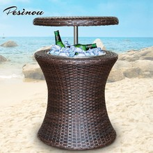 beer cooler table and folding pool cooler table for outdoor