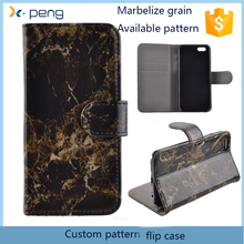 2017 hot products Marble Grain Ultra slim mobile phone flip cover leather wallet case for samsung galaxy fame