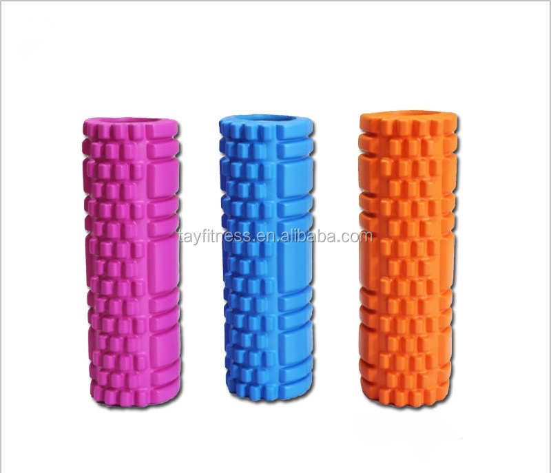 Hollow massage yoga grip EVA foam yoga roller
