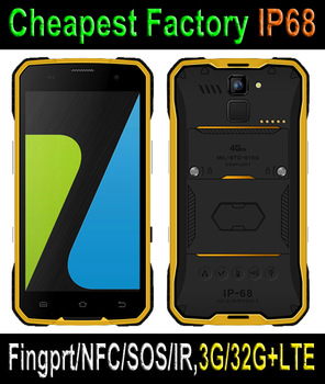 Cheapest Rugged Mobile Solutions With 4G LTE Android 5.1 NFC Rugged Phone IP68