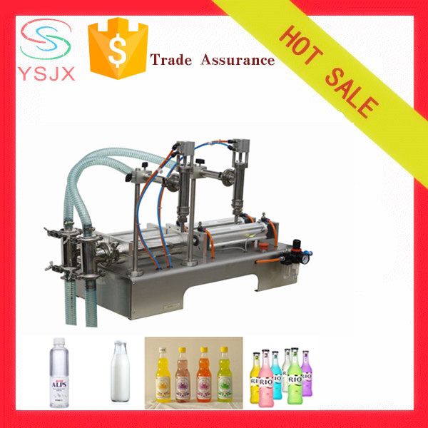 2 nozzle liquid filling machine for fruit vinegar drink