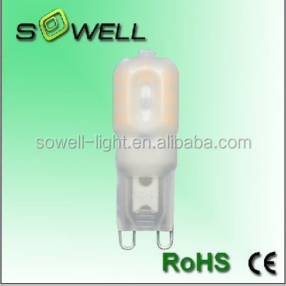 AC220V 3W 2700-3000K/6500-7000K CE/RoHS Plastic capsule G9 LED corn light Bulbs