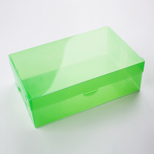 Custom Eco Friendly Clear Plastic Folding Box for Shoes Transparent Packaging Box for Shoes