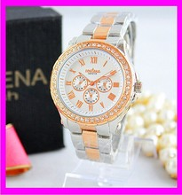 K6939 2014 Fashion geneva gold watch Brand Style Popular In US and Europe Welcome small order