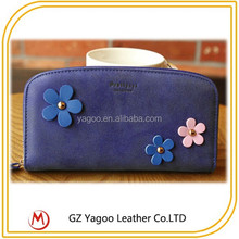 Hot sale human leather wallet fashion woman wallet
