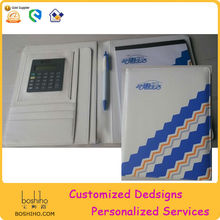 Manufacture A5 Leather Padfolio With Calculator