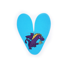 Lovely dragon pattern printing designs foam kids free trim insole