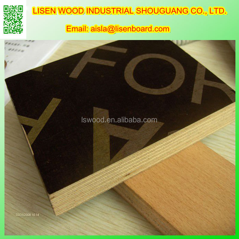 Imprinted Brown Concrete Formwork Plywood Sheet, Film Faced Plywood Phenolic Glue