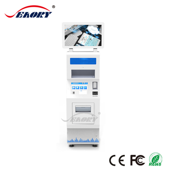 Document Scanning Self Serive Payment Machine Kiosk with A4 Printer