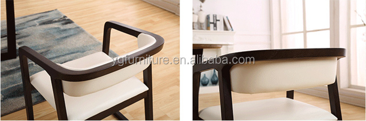 High Quality Leather Cushion Dining Room Furniture Wooden Arm Chair