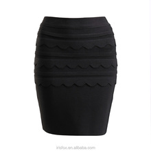 Primera clase de la señora 2017 de la última manera formal short pencil skirt negro