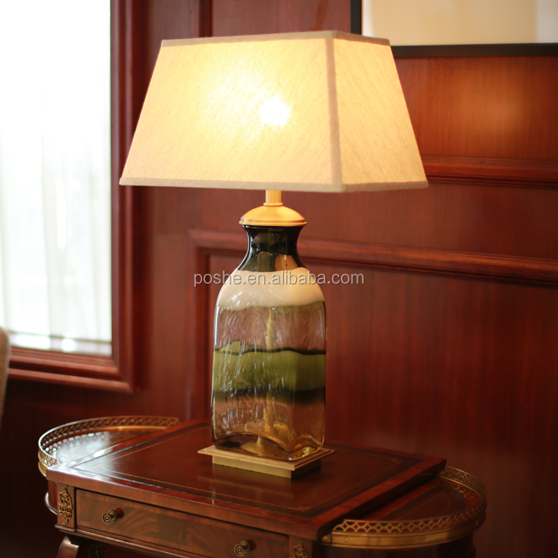 Popular Price China square glass lamp shades