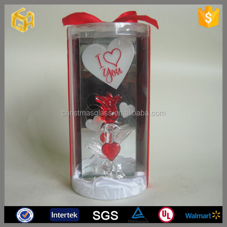 Valentine's day glass rose gift