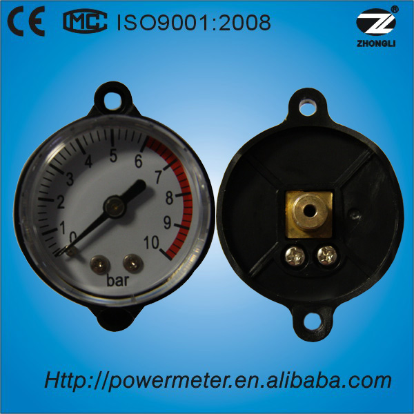 10 bar back connection mini air pressure gauge