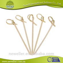 2014 Nature best quality popular twisted knot bamboo pick eco-friendly toothpick bottle