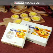 Hot sale egg tart packaging box with food paper