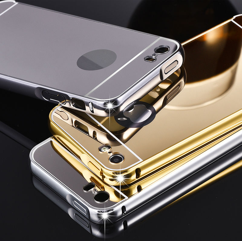 5S Mirror Aluminum Case for iPhone 5 5G 5S apple HOT Fashion Gold Silver Aluminum Acrylic Mobile Phone Cases Cover for iPhone5 s