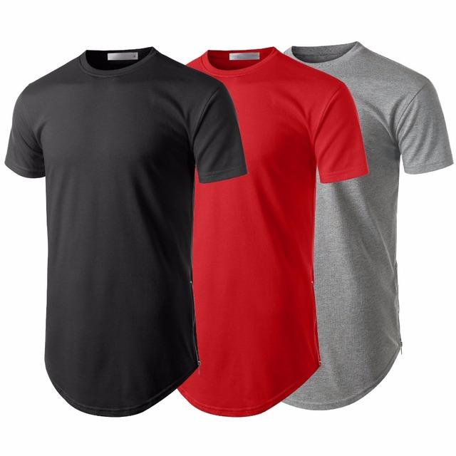 Fashion mens classice fitted performance gym long tshirt