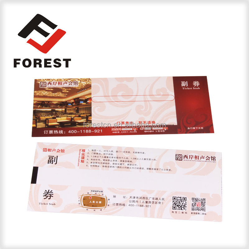 supply event tickets, admission ticket roll, movie tickets printing hot sales tickets