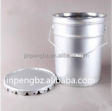 round white oil tin can with lid