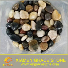 Mixed Natural Landscaping Colored Flat River Stone,High Polished Pebble Stone For Wholesale