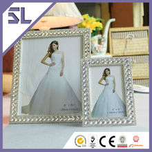Mini Picture Frame Cheap Picture Frames In Bulk Decorative Crystal Rectangle Shape Picture Frame for Wedding Decoration