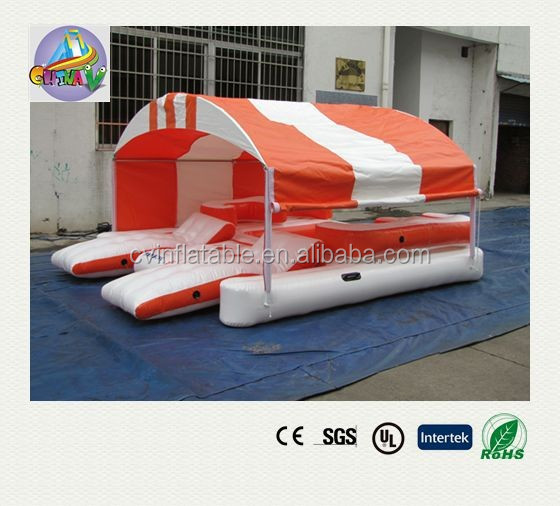 floating island inflatable,inflatable floating island,inflatable palm tree floating island