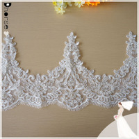100% polyester hand beaded fancy embroidery designs new york wholesale bridal trim lace