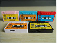 Wholesale bulk mp3 player cassette tape shaped mp3 music player