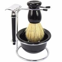 Men's Manual Razor Sets 4 in 1 Men's Shaving & Grooming Sets Razor Shaving Travel Set Kit