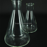 flask conical glass 1000 ml/Chemistry 1000ml Conical Flask/Conical flask with spout in lab