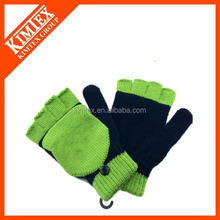 2016 Wholesale two tone gloves customized