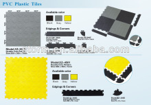 PVC interlocking plastic garage floor tiles