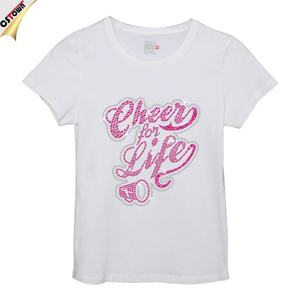 Cheer for Life Iron on letters China custom t shirt