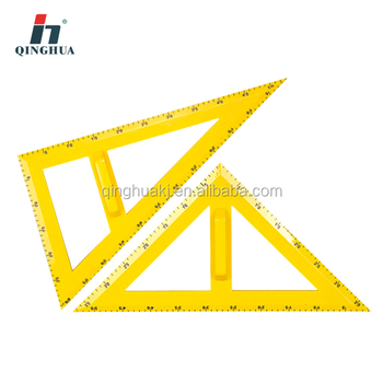 High Quality Plastic Mathematic Set Square for Education Equipment