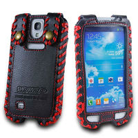 cell phone case For Samsung galaxy SIV S4 I9500 SHOWKOO 2013 New Genuine Leather pouch Case with front display