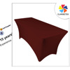 6ft Burgundy Decorative Rectangular Fitted Stretch Table Cover