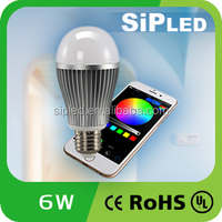 Wifi Bluetooth Controlled LED Color Smart Light Bulb 6W E27