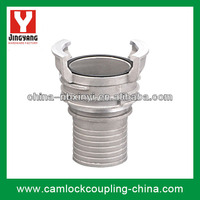Hose tail with latch guillemin coupling of pipe fitting