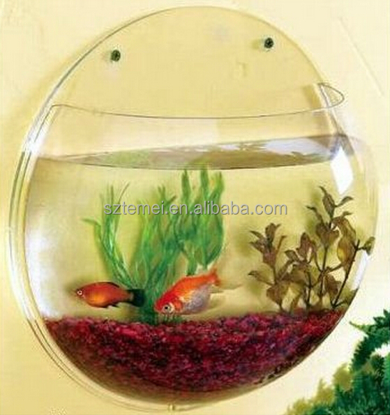 acrylic aquarium,acrylic wall mount fish bowl