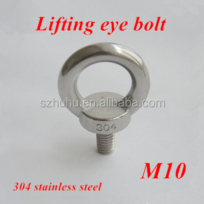 6pcs <strong>M10</strong> <strong>Stainless</strong> <strong>Steel</strong> Lifting Eye <strong>Bolts</strong> Round Ring Hook <strong>Bolt</strong>
