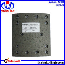 heavy duty truck howo parts drum brake lining for 10 HOWO