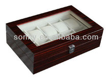 Fashion crafts and wood watch box SW-2062-EB-A