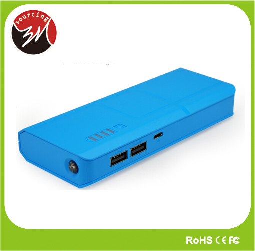CE FCC ROHS UL Certification 10000mAh Emergency Cell Phone Charging Power Bank Multiple Battery Charger for iPhone Samsung HTC
